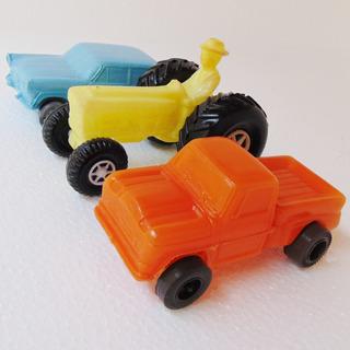 Brinquedo Trator Aero Picape Carro Em Plástico Bolha Soprado