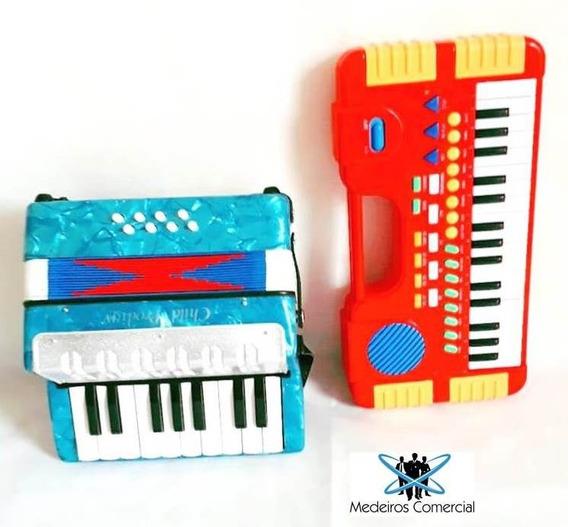Kit Musical Infantil - Acordeon E Mini Teclado