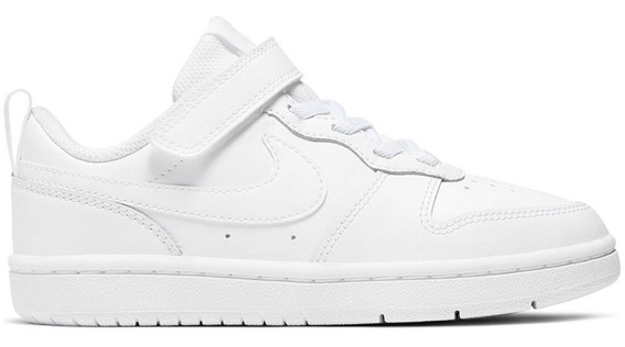 Tenis Nike Court Borough Low 2 Blanco Preescolar Bq5451 100