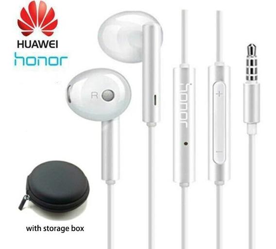 Fone Huawei Honor Am115 C/ Microfone E Controle Vol + Bolsa