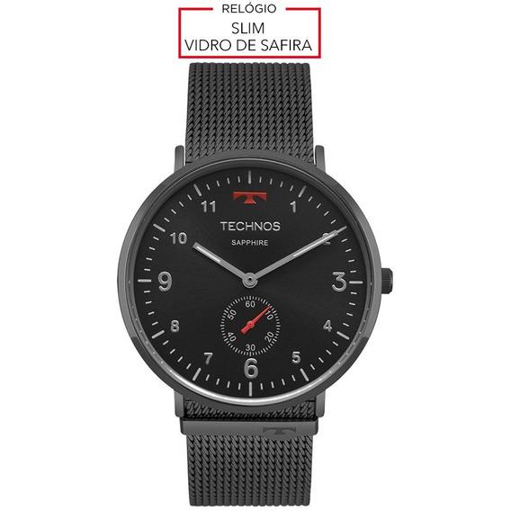 Relógio Masculino Technos - Slim Black - 1l45aw/4p