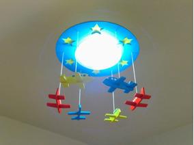 Luminária Infantil Aviões Promoção Barata Em Oferta