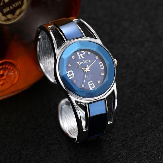 Relógio Feminino Original Bracelete Luxo Aço Inox Promoção