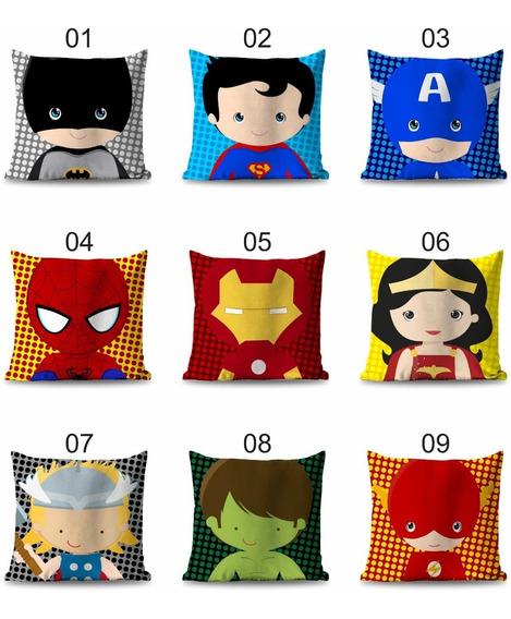 6 Capas Para Almofada 30x30 Herois Baby Decoração Infantil