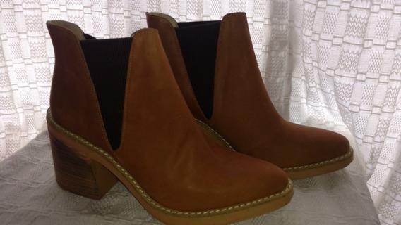 Botas De Cuero Color Suela - Nuevas - Liquidacion!! Talle 40