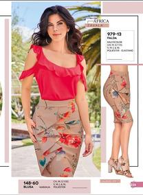 Falda Floral Multicolor Dama Cklass 979-13 Pv-2019