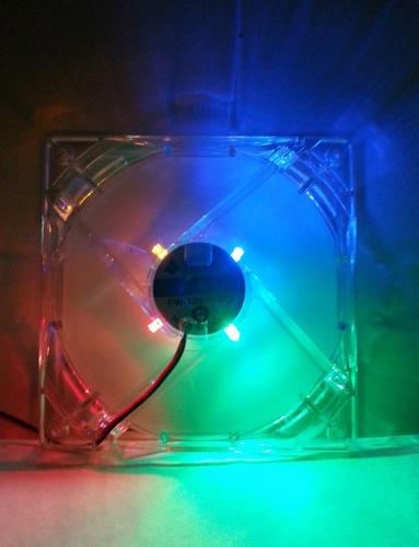 Fan Cooler  12 X 12 Para Pc  - 4 Luces
