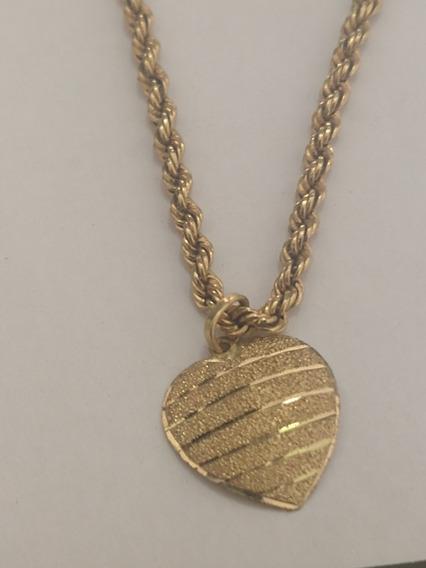 Cordão De Ouro 18 K Com Pingente