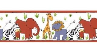 Cenefa Decorativa Infantil De Animalitos Juego De 2 Rollos