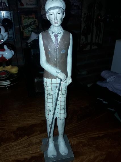 Antigua Figura Jugador De Golf .