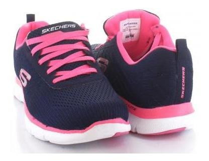 Tenis Para Mujer Sckechers St245-056155 Color Marino/rosa
