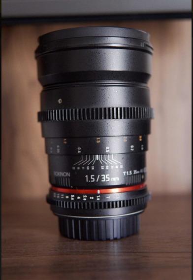 Lente Rokinon 35mm T1.5 Cine - Canon