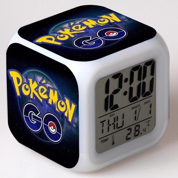 Despertador Digital Led Pokemon Zelda Mario Sonic