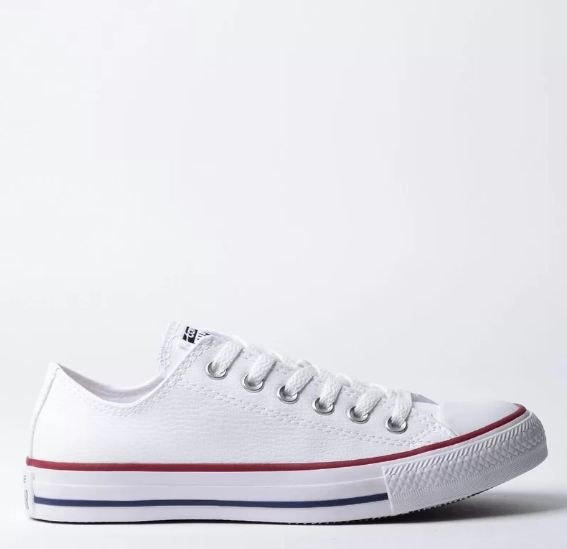 Tênis Converse All Star Couro Branco Ck04200001