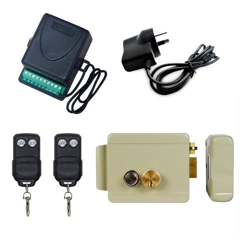 Kit Cerradura Eléctrica Receptor 2 Controles Remotos