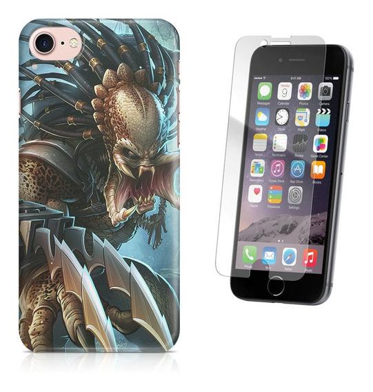 Kit Capa iPhone 7 - 4.7 Predador E Pelicula