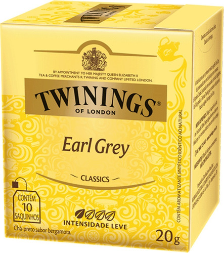 Chá Twinings Earl Grey 10 Sachês