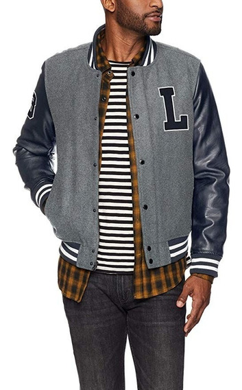 Casaca Levis Mixed Media Varsity Bomber Talla S No Tommy