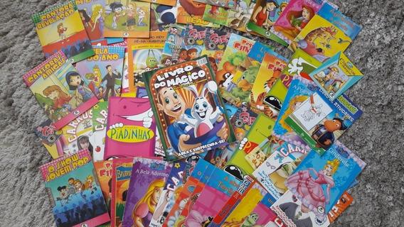 Livro Usado Infantil 60uni. +livro Que Ensina A Fazer Mágica