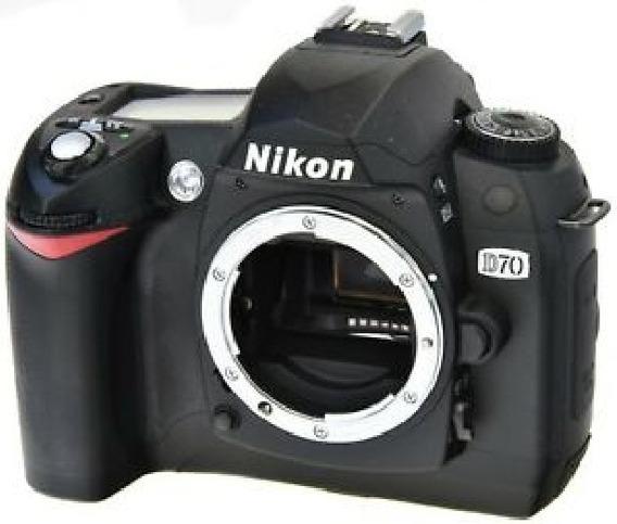 Câmera Nikon D70 Completa ( Sem Lente )
