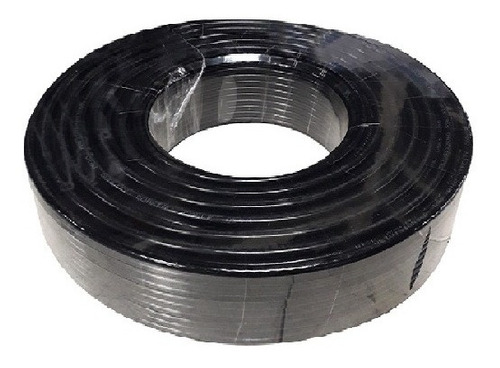 Cable Coaxial Rg6 Color Negro Cctv Supercable Inter  100 Mts