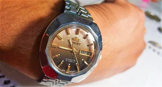 Impecable Reloj Orient Vintage Automático Caja Tortuga