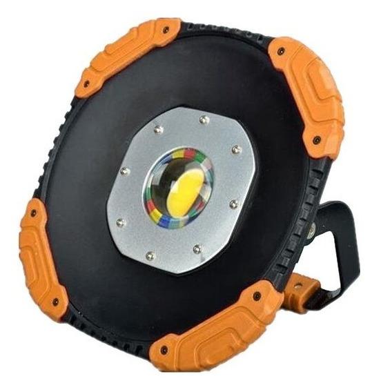 Holofote Luminária Refletor Recarregável 3 Níveis Intensidade Led Cob 100w Luz Branco