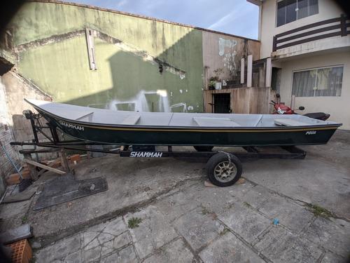 Barco De Fibra 5,6mtrs + Carretinha De Encalhe