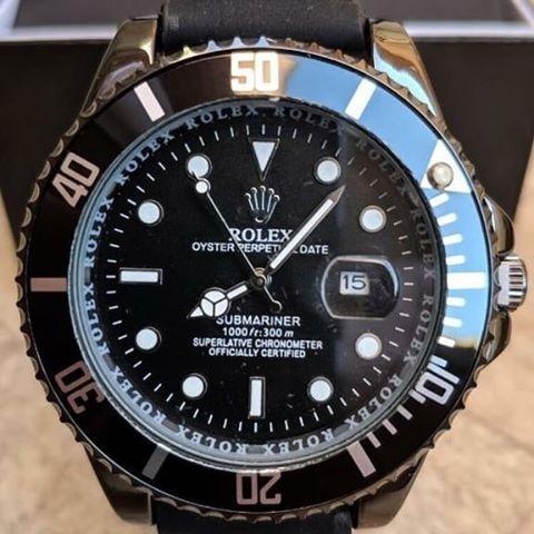 Relógio Rolex Submariner Pulseira Couro +caixinha