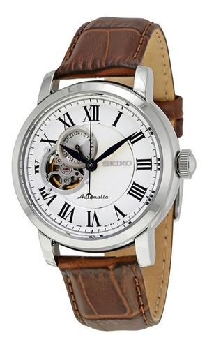Reloj Seiko Automático Con Malla De Cuero Hombre Ssa231