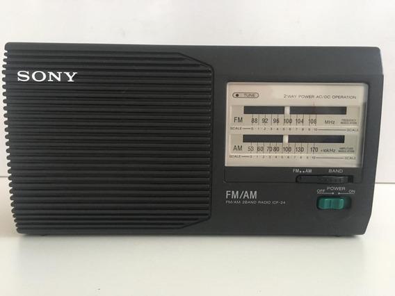 Radio Portatil Marca Sony Mod. Icf-24 Fm/am Radio