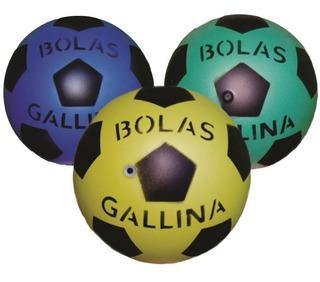 Bola De Vinil Dente De Leite Coloridas De Futebol Oferta.