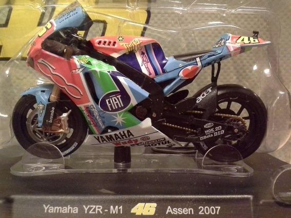 Miniatura Moto Valentino Rossi Motogp Assen 2007 Escala 1:18