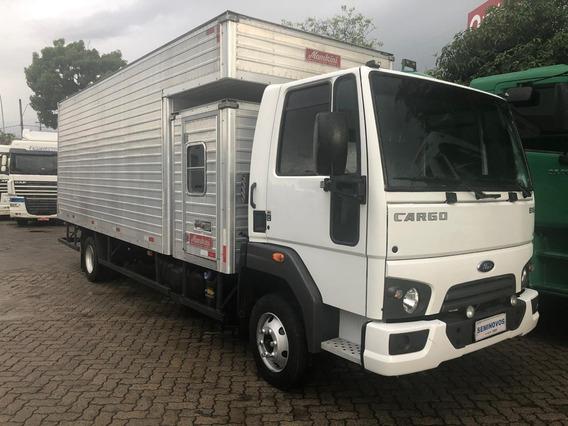 Ford Cargo 816 2018 Baú Longo Cabine Suplementar