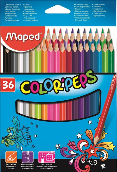 Lapices Maped Color Peps X 36 Unidades Largos