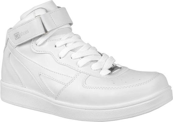 Bota Feminina Tenis Academia Sapato Cr Shoes 1471