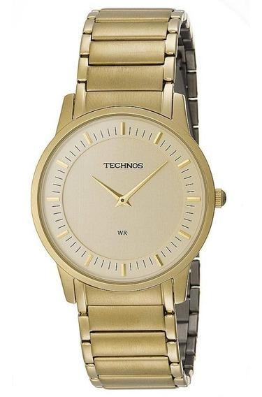 Relógio Technos Dourado Slim Moeda Gl20aq/4x