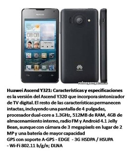 Teléfono Android Huawei Ascend Y321 Operativo
