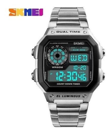 Relógio 1335 Relógio Digital Homens Cronógrafo Alarme