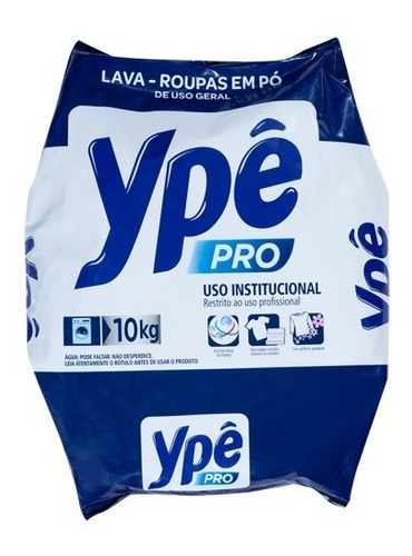 Sabão Em Pó Ypê Pro 10kg Uso Profissional Em Lavanderia