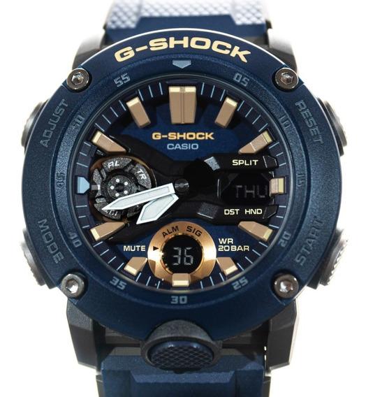 Relógio G-shock Ga 2000 2adr Azul Original Garantia Lançamen