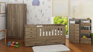 Juego Dormitorios Infantiles Bebes Combos Muebles Bal