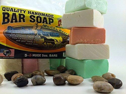 Todo Natural Amish Farm Bar Soap Variedad 5-pack Cold Proces