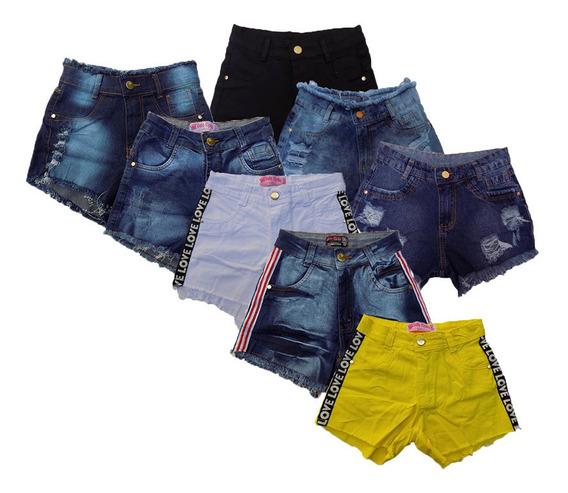 Short Jeans Feminino Cintura Alta Hot Pants Promoção Unidade