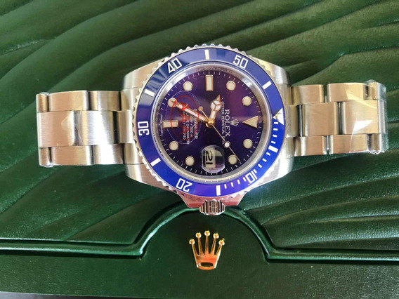 Relógio Rolex Automático Submariner Azul