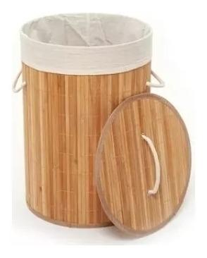Canasto Cesta Organizador Ropa Sucia Bambú Ecológico