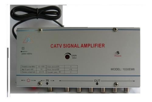 Amplificador De Señal Catv  Con 6 Salidas