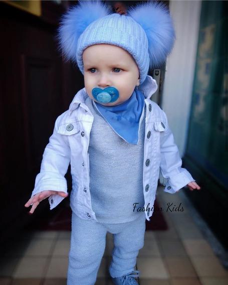 Jaqueta Casaco Estiloso Jeans Bebê **promoção**