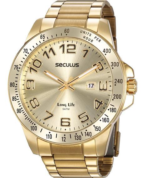 Relógio Masculino Seculus 2 Anos De Garantia 20854gpsvda2