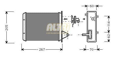 Radiador Calefaccion Fiat Palio Siena =2001